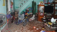 The crime scene at Do Duc Manh Hung's house in Nam Dinh Province. Photo: Van Dong