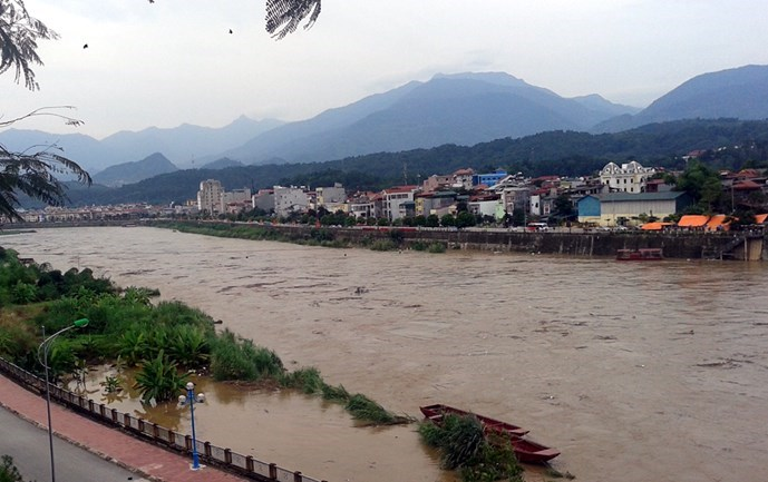 Vietnam's northern province of Lao Cai reports record flooding this year after China discharged water in huge dams upstream. Photo: Minh Hang
