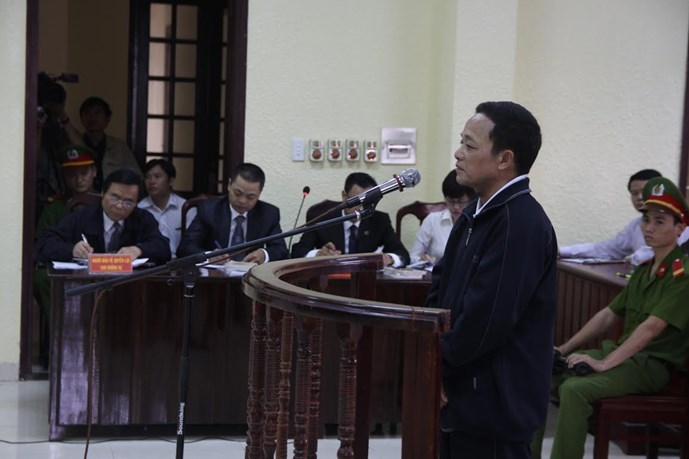 Nguyen Van Thuy stands trial on October 16. Photo: Nguyen Phuc