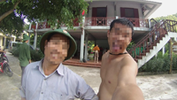A screenshot of a selfie that Nguyen Manh Hung (R) took with the camera of the British tourist.