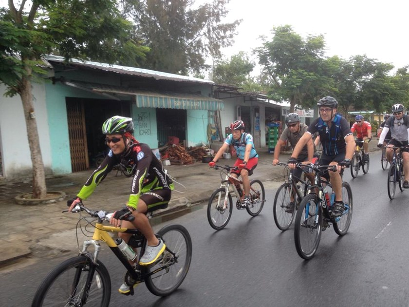 Cyclists in the 2014 Charity Cycle Adventure that raises donations to help Vietnamese disadvantaged children. Photo credit: Saigon Children's Charity