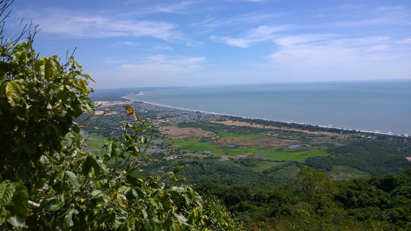 A corner of Phuoc Hai seen from the Minh Dam Mountains in Ba Ria Vung Tau Province. Photo: Khanh An
