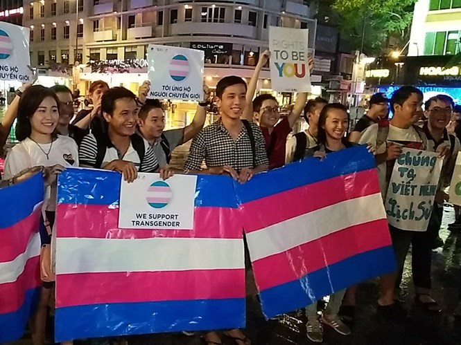 People gather on Ho Chi Minh City's Nguyen Hue Street to celebrate lawmakers' recognition of their rights. Photo: Vu Phuong