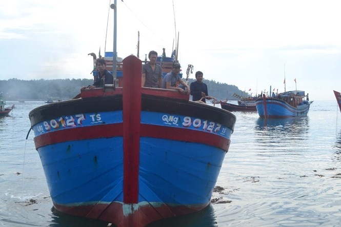 A fishing boat of Quang Ngai Province. Photo: Hien Cu