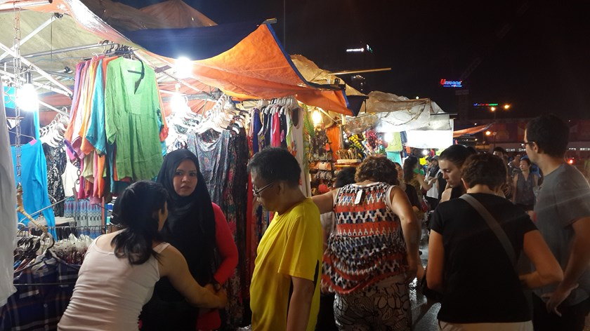 The Ben Thanh Night Market in downtown Ho Chi Minh City. Photo: Tran Tam
