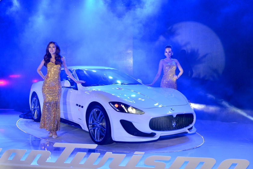 Maserati GranTurismo at the launching ceremony in Ho Chi Minh City on December 3. Photo: Khanh An