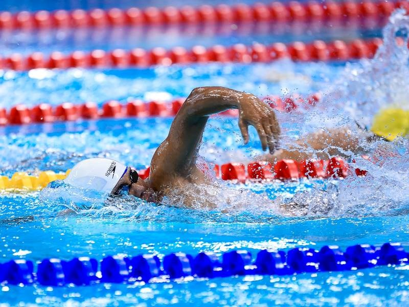 Vo Huynh Anh Khoa broke a record in men's 100m freestyle-S9. Photo credit: ASEAN Para Games