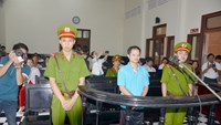 Vo Van Minh stands the trial in Tien Giang Province. Photo: Hoang Phuong