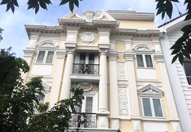 The villa of singer Minh Hang in Ho Chi Minh City's District 2. Photo: Ngoc Tho