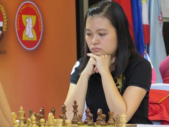 Nguyen Thi Mai Hung, 21, has won the ASEAN Women category at the 3rd ASEAN Championships in Indonesia. Photo credit: Chessdom