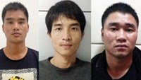 Three Chinese men accused of abducting a Vietnamese man in Quang Ninh Province last November. Photo credit: VnExpress