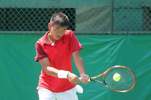 Ly Hoang Nam, 18, is expected to help Vietnam maintain in Asia/Oceania's Group 2 at Davis Cup. Photo: Bach Duong