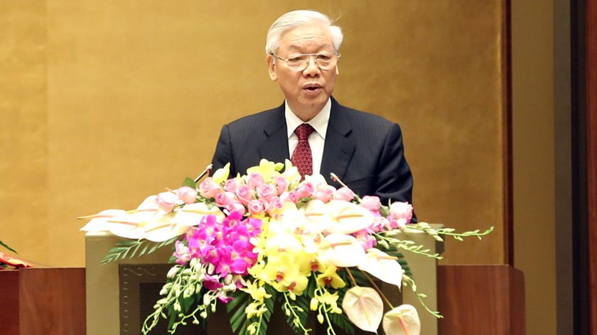 Nguyen Phu Trong, 71, has been re-elected as Vietnam's Communist Party chief. Photo: Thanh Nien