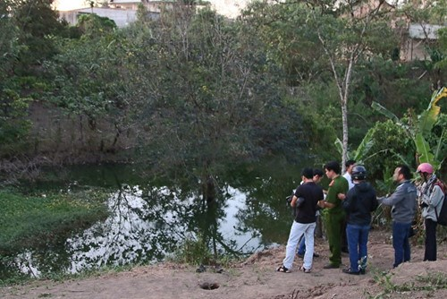The reservoir where three girls drowned on January 28. Photo: Trung Chuyen