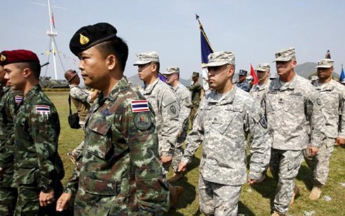 Military officers joining the Cobra Gold exercise in Thailand on February 9. Photo credit: Dan Tri