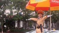 A traffic police officer in Hanoi. Photo: Thai Son