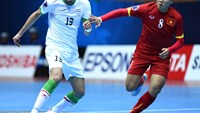 Vietnam loses 1-13 to Iran at the AFC Futsal Championships on Friday. Photo: Ngo Nguyen