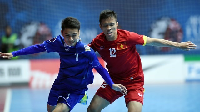 Vietnam lost to Thailand for the second time at the AFC Futsal Championships on February 21, 2016. Photo: Ngo Nguyen