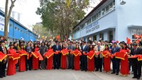 The inauguration ceremony of two workshops at Hanoi Industrial Vocational College on February 24, 2016. Photo credit: Plan International