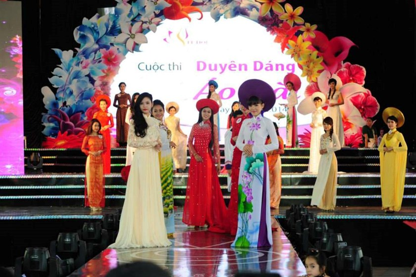 Beauties at the 2015 Charming Ao Dai Contest in Ho Chi Minh City. Photo credit: HCMC Tourism Department