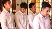 Pham Huu Phat (R), former Dong Nai captain, and other defendants stand trial on March 11. Photo: Le Lam