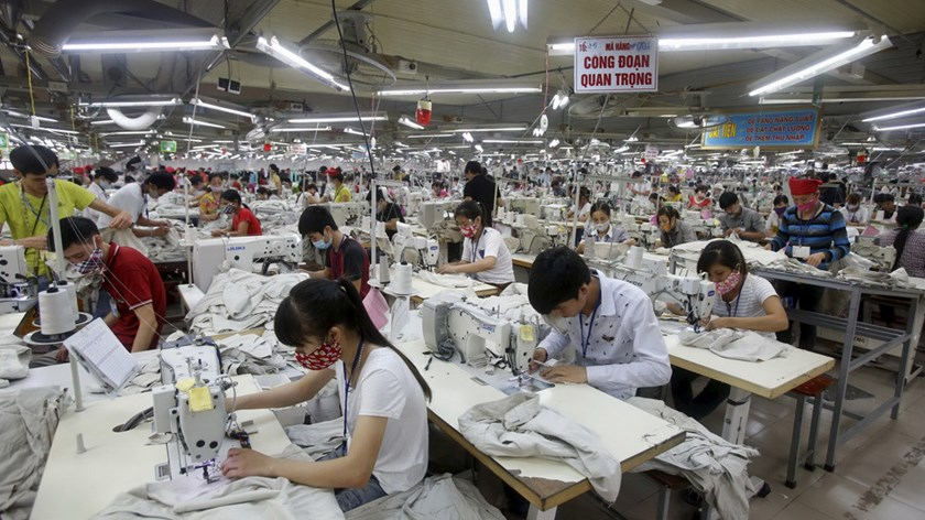 A garment factory in Vietnam. Photo: Reuters