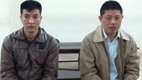 Two Chinese defendants at the trial in Hanoi on March 29, 2016. Photo credit: Viet Dung/Tuoi Tre