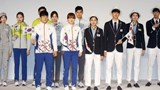 South Korean Olympic athletes and models show the South Korean Olympic team uniforms for the 2016 Rio Olympic Games at the Korean National Training Center in Seoul. File photo