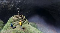 A file photo of explorers inside Son Doong Cave in the central province of Quang Binh. Photo credit: Oxalis