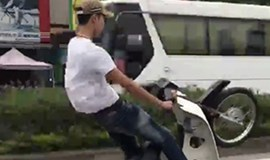 Man fined for performing motorcycle stunts on street