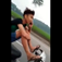 Young motorbike driver puts his feet up, tells mom to stay calm