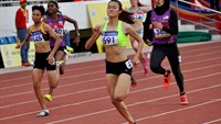 Le Tu Chinh (591) won a gold medal in women's 200m at the Asian Junior Athletics Championships in Ho Chi Minh City on June 6. Photo credit: Asian Athletics Association
