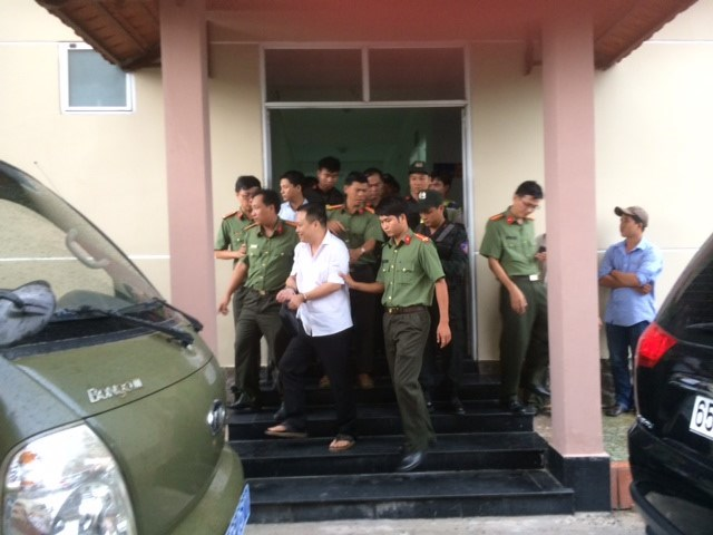 Nguyen Huynh Dat Nhan, director of Tay Nam Agro-Fisheries Company, was arrested on June 16. Photo: Mai Tram