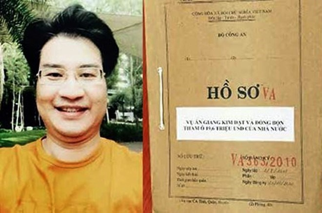 A file photo of GIang Kim Dat, who has been accused of stealing nearly $16 million from a state-owned Vinashin's affiliated company.
