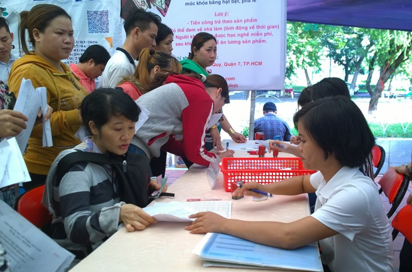 A job fair in Ho Chi Minh City last month. Photo: Khanh An