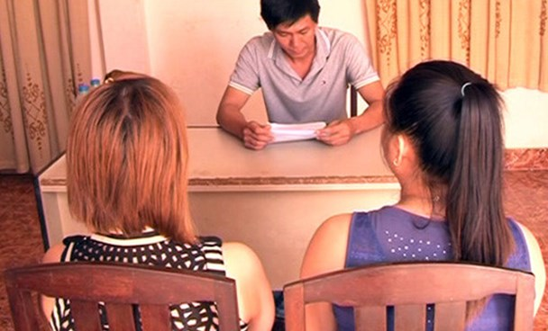 Two women rescued from human trafficking in Tay Ninh Province. File photo