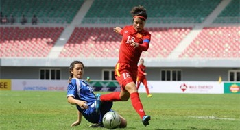 Vietnam women's football team has scored a total of 18 goals after two matches. Photo credit: MFF
