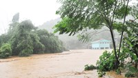 An inundated area in Lao Cai Town. Photo credit: Lao Cai Online