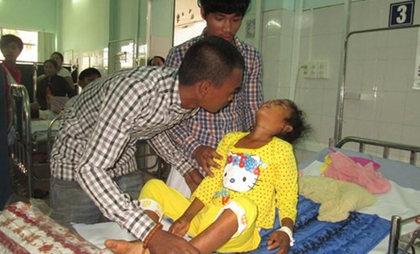 A dengue fever patient at the Cao Lanh Hospital in Dong Thap Province. Photo: An Lac