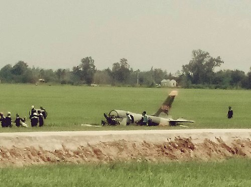The aircraft that crashed in Phu Yen on August 26. Photo credit: LTPB