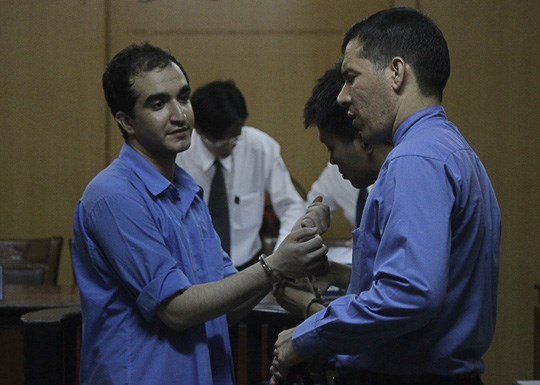 Choobani Shirvani Mehdi at the trial in Ho Chi Minh City on August 26. Photo credit: Quoc Chien/Nguoi Lao Dong
