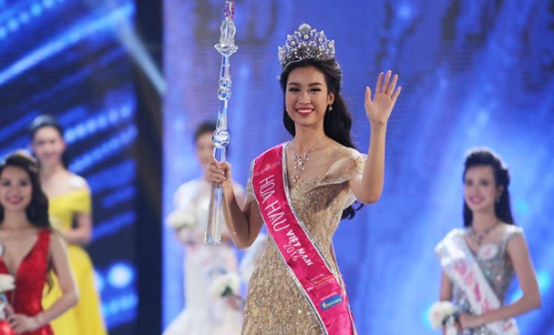 Do My Linh, 20, has won the Miss Vietnam 2016 title. Photo: Thanh Nien