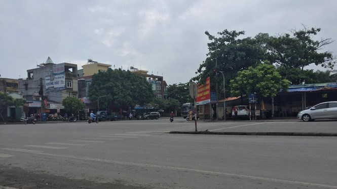 The area near the karaoke parlor in Hai Phong where a man was shot dead early Wednesday. Photo: Le Tan
