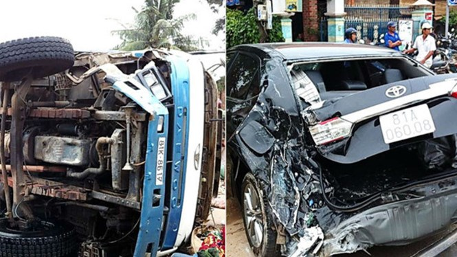 Traffic accidents killed 33 people and injured 59 others in Vietnam during holiday weekend. Photo: Thanh Nien