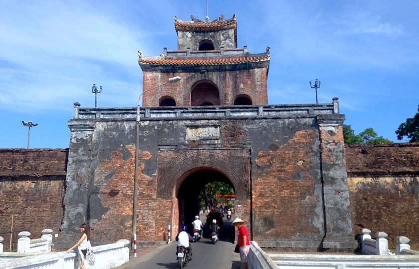 Hue, a popular destination where tourists can marvel at beautiful centuries-old structures. Photo: Claire Sessions
