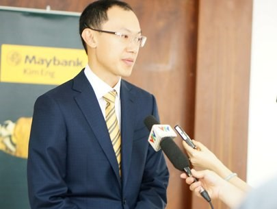 Maybank Kim Eng's research director Ong Seng Yeow answers the press on March 8
