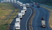 Russia convoy heads south