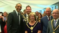 Obama attends royal reception at NATO summit