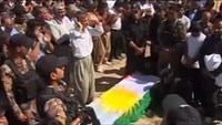 Hundreds mourn the loss of a Kurdish fighter killed by IS