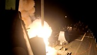 Navy video shows Tomahawk missiles launched against IS targets in Syria